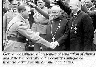 relationship of the nazis and churches