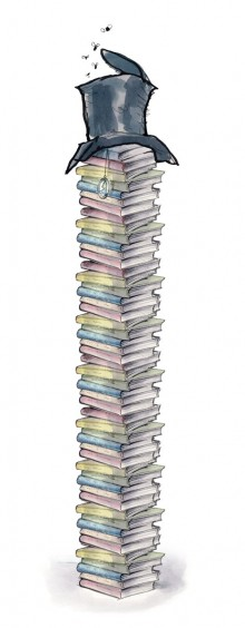 The 48 binders presented by the Church of Scientology in response to fact-checking questions sent by The New Yorker.